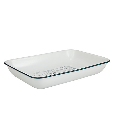Buy John Lewis Porcelain Cow Motif Rectangular Roaster Online at johnlewis.com