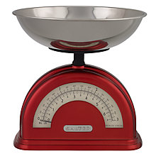 Buy Salter Vintage Mechanical Kitchen Scale, Red Online at johnlewis.com