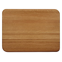 Buy John Lewis Sculpted Oak Chopping Board Online at johnlewis.com