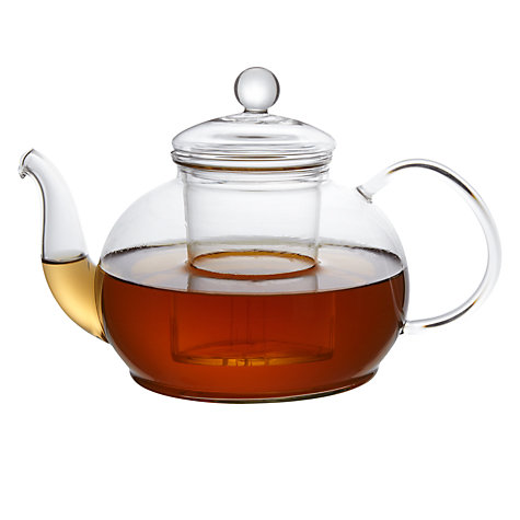 Buy John Lewis Glass Teapot With Infuser 1 2l John Lewis