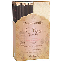 Buy Heathcote & Ivory Beau Jardin Rose & Geranium Bon Voyage Travel Kit, 2 x 100ml Online at johnlewis.com