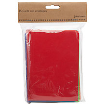 Buy John Lewis A6 Bright Mix Card and Envelope Set, Pack of 25, Multi Online at johnlewis.com