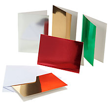 Buy John Lewis Foil Cards and Envelopes, Pack of 25, Multi Online at johnlewis.com
