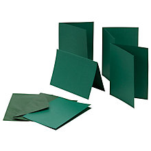 Buy John Lewis Plain Cards and Envelopes, Pack of 25, Green Online at johnlewis.com