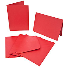 Buy John Lewis Cards and Envelopes, A6, Pack of 25, Red Online at johnlewis.com