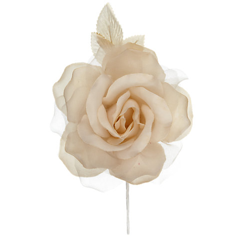 Buy John Lewis Rose Corsage, Beige Online at johnlewis.com