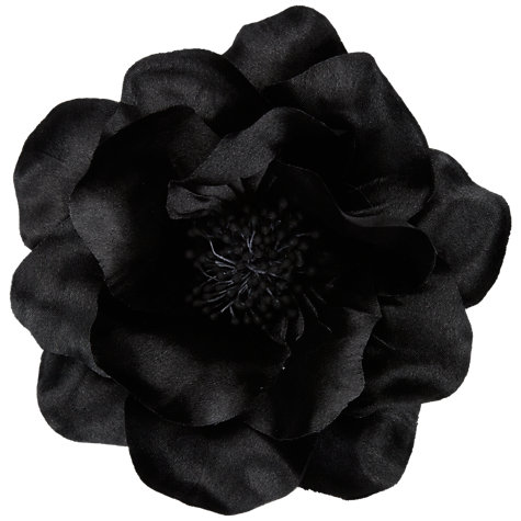 Buy John Lewis Large Poppy Corsage, Black Online at johnlewis.com