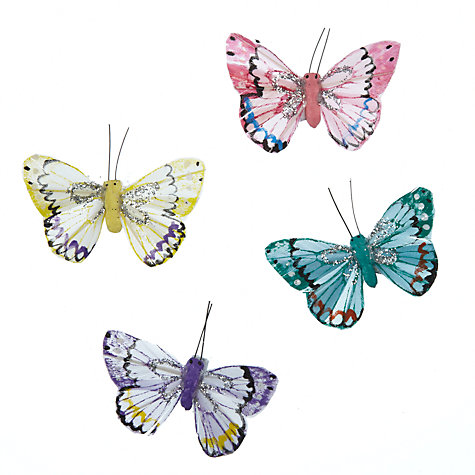 Buy John Lewis Butterfly Accessories, Pack of 6, White Online at johnlewis.com