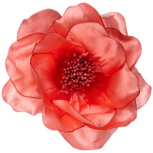 Buy John Lewis Large Poppy Corsage, Dark Coral Online at johnlewis.com