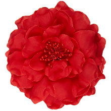 Buy John Lewis Open Peony Corsage, Red Online at johnlewis.com
