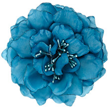 Buy John Lewis Poppy Corsage, Turquoise Online at johnlewis.com