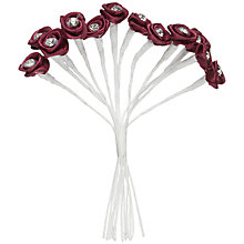 Buy John Lewis Diamante Rib Rose Accessory, Burgundy Online at johnlewis.com