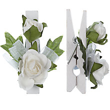 Buy Wedding Flower Pegs, Pack of 8, White Online at johnlewis.com