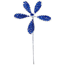 Buy John Lewis Beaded Flower Accessory, 14cm, Blue Online at johnlewis.com