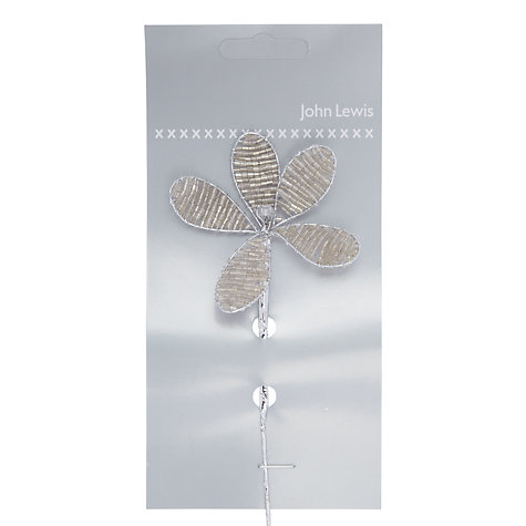 Buy John Lewis Beaded Flower Accessory, 14cm Online at johnlewis.com