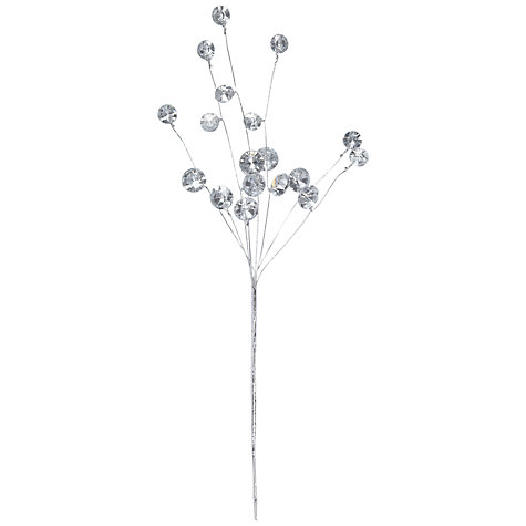 Buy John Lewis Gems on Branches, Silver, Large Online at johnlewis.com