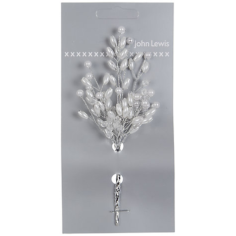 Buy John Lewis Pearl Cluster Accessory, White Online at johnlewis.com