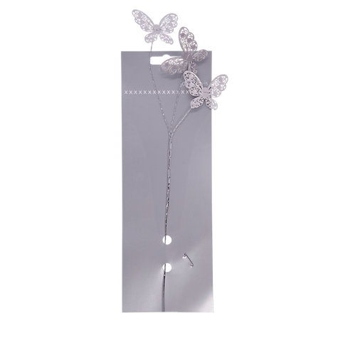 Buy John Lewis Metal Butterflies Hair Accessory, Silver Online at johnlewis.com