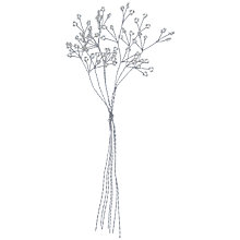 Buy John Lewis Mini Clear Gems on Branches, Silver Online at johnlewis.com
