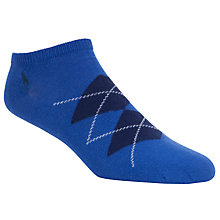 Buy Polo Ralph Lauren Argyle Ankle Socks, Pack of 3 Online at johnlewis.com