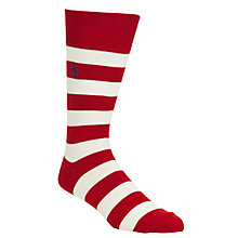 Buy Polo Ralph Lauren Stripe and Plain Socks, Pack of 2 Online at johnlewis.com