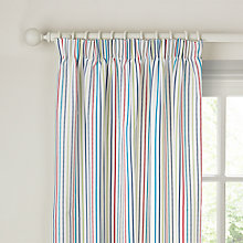Buy little home at John Lewis Dinotastic Dash Stripe Lined Pencil Pleat Curtains Online at johnlewis.com