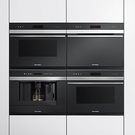 Buy Fisher & Paykel OM36NDXB1 Built-In Combination Microwave, Stainless Steel/Glass Online at johnlewis.com