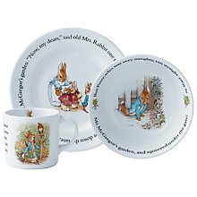 Buy Beatrix Potter Peter Rabbit Three Piece Dining Set Online at johnlewis.com