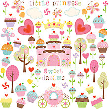 Buy Jomoval Cupcake Castle Wall Stickers Online at johnlewis.com
