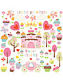 Jomoval Cupcake Castle Wall Stickers