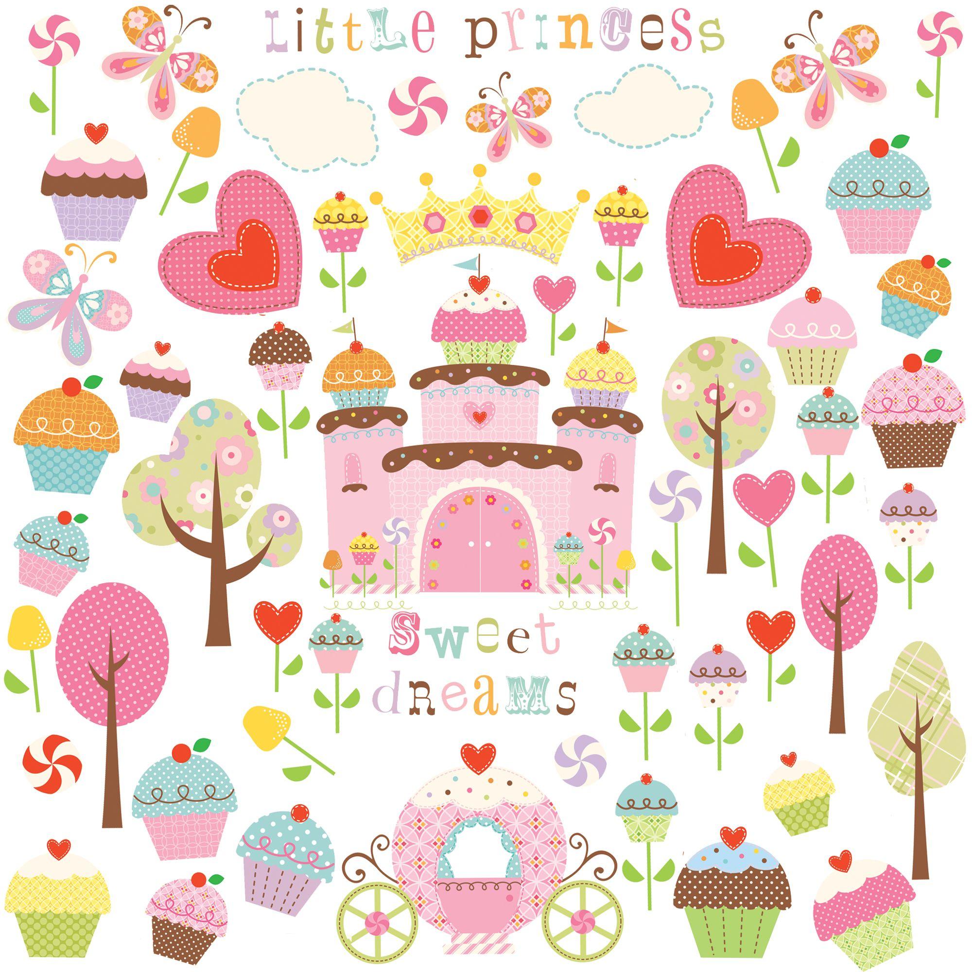 Jomoval Jomoval Cupcake Castle Wall Stickers