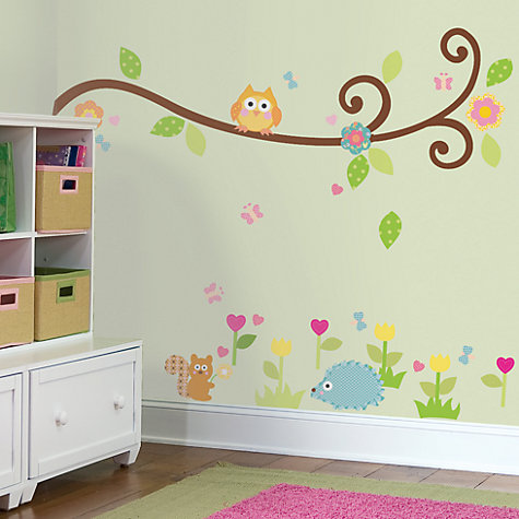Buy Jomoval Scroll Tree Branch Wall Stickers Online at johnlewis.com