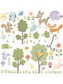 Jomoval Woodland Creatures Wall Stickers