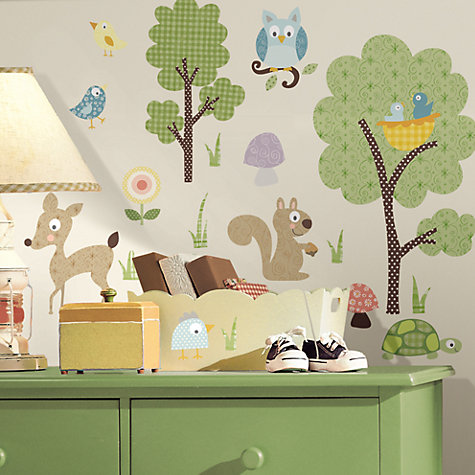 Buy Jomoval Woodland Creatures Wall Stickers Online at johnlewis.com