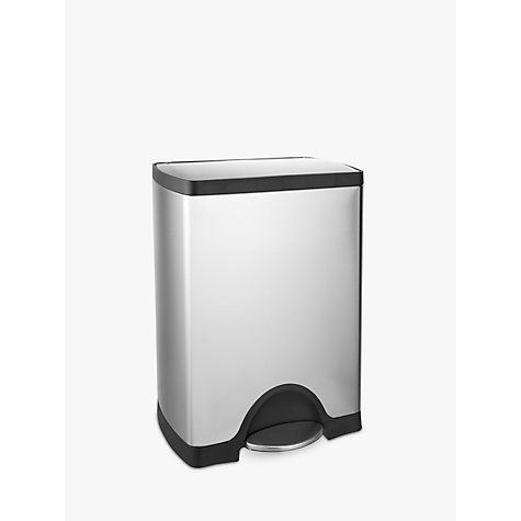 Buy simplehuman Rectangular Pedal Bin, 30L Online at johnlewis.com