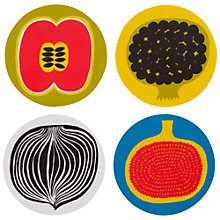 Buy Marimekko Kompotti Coasters, Set of 4 Online at johnlewis.com