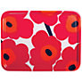 Buy Marimekko Pieni Unikko Tray, Dia.43cm, Red Online at johnlewis.com