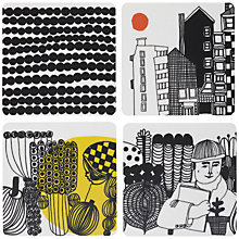 Buy Marimekko Siirtolapuutarha Coasters, Set of 4 Online at johnlewis.com