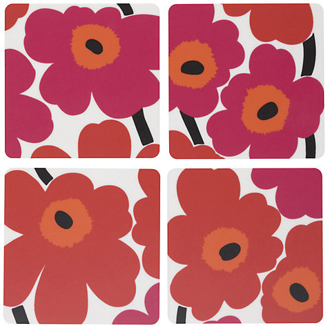 Buy Marimekko Unikko Coasters, Set of 4 Online at johnlewis.com