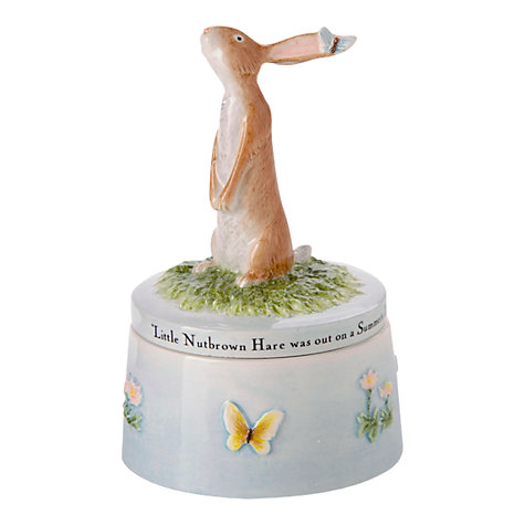 Buy John Beswick Hare & Butterfly Trinket Pot Online at johnlewis.com