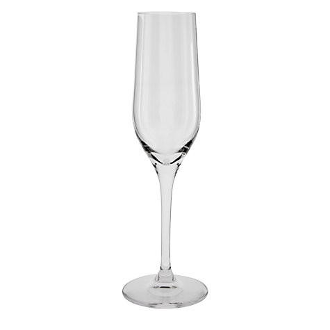 Buy Dartington Crystal All Purpose Flute, 0.18L, Set of 6 Online at johnlewis.com