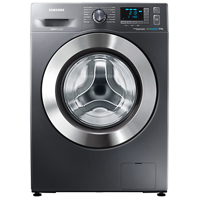 Image of Samsung WF80F5E5U4X ecobubble™ Freestanding Washing Machine, 8kg Load, A+++ Energy Rating, 1400rpm Spin, Graphite