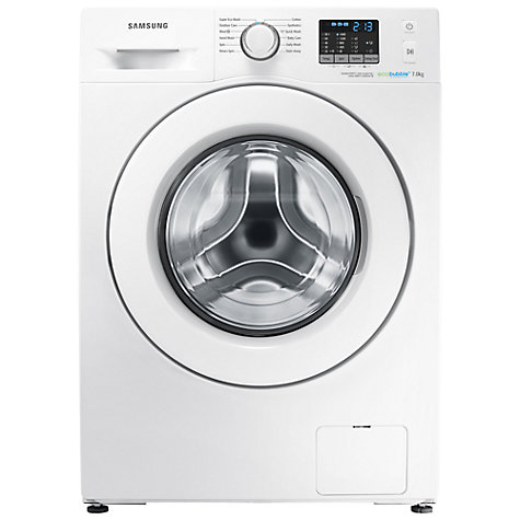Buy Samsung WF70F5E0W4W ecobubble™ Washing Machine, 7kg Load, A+++ Energy Rating, 1400rpm Spin, White Online at johnlewis.com