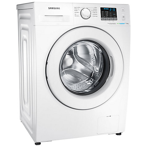 Buy Samsung WF70F5E0W4W ecobubble™ Freestanding Washing Machine, 7kg Load, A+++ Energy Rating, 1400rpm Spin, White Online at johnlewis.com