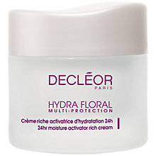 Buy Decléor Hydra Floral Multi Protection Rich Cream, 50ml Online at johnlewis.com
