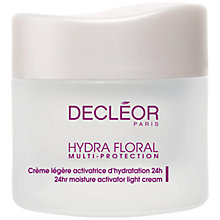Buy Decléor Hydra Floral Multi Protection Activator Light Cream, 50ml Online at johnlewis.com