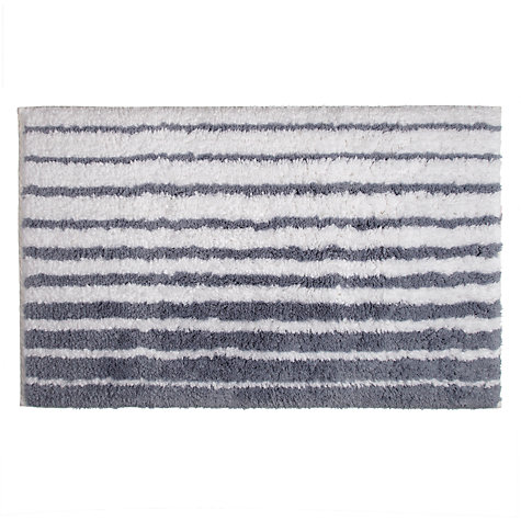 Buy John Lewis Engineered Stripe Bath Mat, Pacific Online at johnlewis.com
