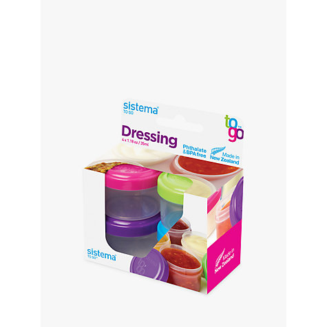 Buy Sistema Dressing Pots, Pack of 4 Online at johnlewis.com