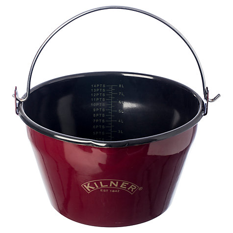 Buy Kilner Enamel Finish Jam Pan, Red Online at johnlewis.com