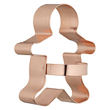 Buy Eddingtons Copper Gingerbread Cookie Cutter Online at johnlewis.com